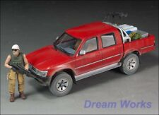 Award Winner Built Meng Model 1/35 Armed Toyota Hilux Pickup +Sniper +Acc