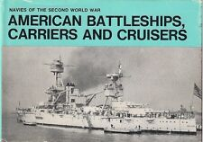 (RARE) American Battleships, Carriers and Cruisers by H.T. Lenton