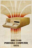 IBM 5100 Computer Retro Metal Tin Sign Poster Plaque Garage Wall Decor A4