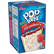 NEW KELLOGGS POP TARTS FROSTED STRAWBERRY 14.7 OZ BOX 8 TOASTER PASTRIES BUY IT