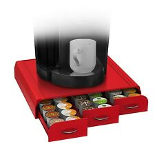 New Coffee Pod Holder Triple Drawer Single Serve K-Cup CBTL Dolce Gusto Capsules
