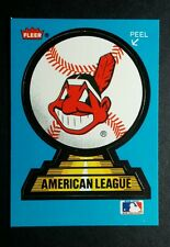 CLEVELAND INDIANS AMERICAN LEAGUE BLUE BORDER BASEBALL TRADING CARD STICKER
