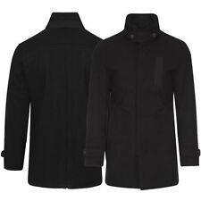 Button Woolen Regular Military Coats & Jackets for Men
