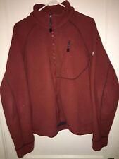 Timberland Men's Fleece Zip Up Maroon Jacket Size L