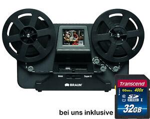 Braun / Reflecta Filmscanner NovoScan Digitalisieren Sie Super 8 Normal 8 + 32GB