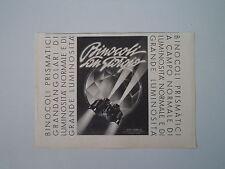 advertising Pubblicità 1941 BINOCOLO SAN GIORGIO - GENOVA SESTRI