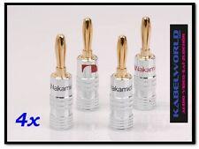 4 x Nakamichi High End SPINA A BANANA (4 pezzi rosso e nero
