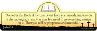 Joshua 1:8 Bible Verse Sign | Do not let this Book of the Law depart from your