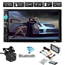 7'' HD 2 DIN FM/MP5/MP3/USB/AUX Bluetooth Touch Car Screen Stereo Radio+ Camera