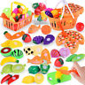 Kids Pretend Role Play Kitchen Fruit Vegetable Food Toy Cutting Set Gift Toy Kit