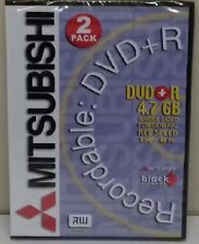 Mitsubishi Branded DVD+R 8x 2 pack in double 9mm dvd case NEW