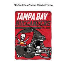 "NFL Tampa Bay Buccaneers 40-Yard Dash Micro Raschel Throw Blanket 40"" x 60"""