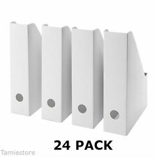 24 IKEA Fluns Magazine File Holders Office Paper Organizer Storage White