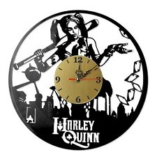 "NEW  Vinyl Record Wall Clock ""Harley Quinn #5"", modern decorative art ~ 12"""