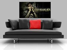 "WIZ KHALIFA BORDERLESS MOSAIC TILE WALL POSTER 47"" x 25"" HIP HOP RAP"