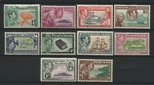 Pitcairn Islands 1940 KGVI Multi Design Values Set Mounted Mint