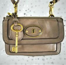 FOSSIL Genuine Leather ZB5185 Vintage Re-Issue Top Zip Flap Crossbody Handbag