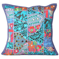 Cushion Pillow Patchwork Cover Handmade Turkish Rug Indian 16 Sofa Home Decor
