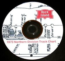 Rock Island 1973 Northern Division Track Chart Pages on DVD