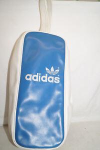 Adidas Vrai Vintage Sac à Chaussures Avec Dragonne 41960 Taiwan 80th Bleu Blanc