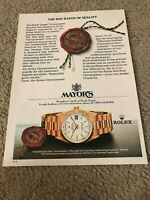 Vintage ROLEX OYSTER DAY-DATE CHRONOMETER Watch Print Ad w/ ROLEX RED BADGE