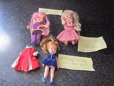 3 Vtg Mini Dolls Clothes Pinky Flatsy Remco Tressy