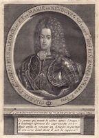 Portrait XVIIIe Charles VI Saint Empire Karl VI Heiliges Römisches Reich 1750