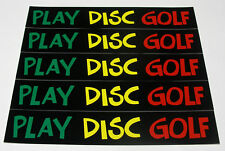 "New-5-Play Disc Golf Stickers 8.5"" x 1.5"" Very High Quality."