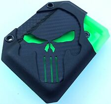Zombie 💀DARK PUNISHER EDITION💀 Kydex Wallet With Money Clip Carbon Fiber