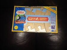 THOMAS AND FRIENDS WOODEN X4  3.5 INCH CURVED ROAD 90MM TRACK PIECES BNIB