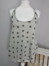 Asos New Look Ladies Grey Vest T Shirt Cami With Hearts (AS1/9)