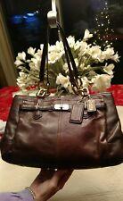 Coach Chelsea Jayden Brown Leather Satchel Shoulder Handbag Purse VGC