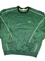 Vintage Fila Crewneck Sweatshirt Mens Size XL Pullover Green Small Spell Out 90s