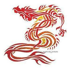 DRAGON FOIL TATTOO RED AND GOLD TEMPORARY TATTOO