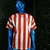 Paraguay Team Jersey Home shirt 2006 - 2007 Red White Puma Trikot Mens Size XL