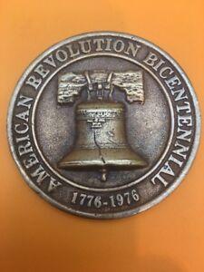 Vintage Bronze Liberty Bell  1776-1976 American Revolution Bicentennial Medal
