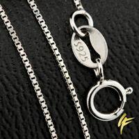 925 Silber Halskette Massiv VENEZIANER Echtschmuck 1 mm Damen Collier 40-45cm