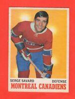 1970-71 OPC O PEE CHEE  # 51  Serge Savard exmt