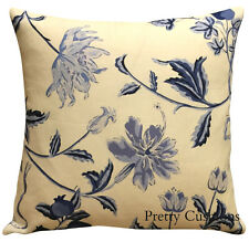 Chivasso Guernsey Blue Linen Cushion Cover 16''