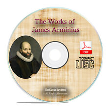 The Works of James Arminius, 3 Vol Bible Commentary Study Calvinism PDF CD H25