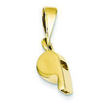 14K Yellow Gold Sports Whistle Charm Pendant MSRP $481