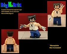 WOLVERINE Logan Vers. #2 Xmen Custom Printed LEGO Minifigure No Decals Used!