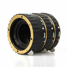Gold Auto Focus Macro Extension Tube for Canon 760D 700D 650D 600D 550D T4i T3i