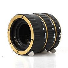 Gold Auto Focus Macro Extension Tube for Canon 760D 700D 650D 600D 550D T4i T3i