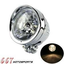 """Motorcycle 4.5"""" Headlight Lamp Front Lights For Harley Davidson Chopper New"""