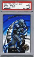 1997 Totally Certified Platinum Blue 1 Emmitt Smith Psa 9 Dallas Cowboys