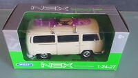 Welly 1 24 Bus  VW Type 2 mit Surfbrett beige 1:24