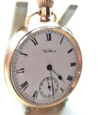 ANTIQUE 10 ct GOLD FILL POCKET WATCH  WALTHAM MARQUIS 1912  15 JEWELS DENNISON