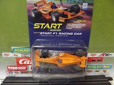 "SCALEXTRIC 1:32 ORANGE START F1 RACING CAR ""TEAM FULL THROTTLE"" SLOT CAR NIB!"