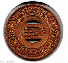 Transit TOKEN - NORTHERN INDIANA TRANSIT, INC - LARGE Size Coin - One Adult Fare